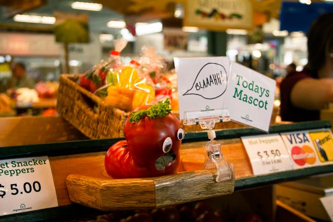 Market tomato in Edmonton